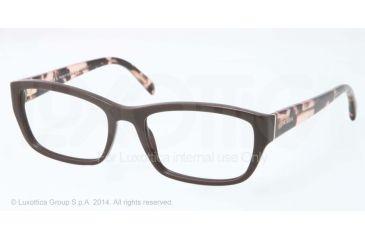 Prada PR18OV Bifocal Prescription Eyeglasses DHO1O1-52 - Dark Brown Frame