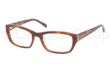 Prada PR18OV Progressive Prescription Eyeglasses MAU1O1-5218 - , Demo Lens Lenses
