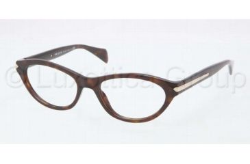 Prada PR18PV Progressive Prescription Eyeglasses 2AU1O1-5217 - Havana Frame
