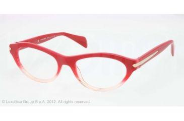 Prada PR18PV Progressive Prescription Eyeglasses PDO1O1-52 - Red Gradient Pink Frame