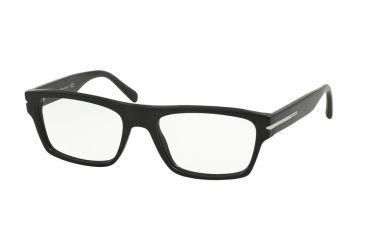 f01adf210799 Prada PR18RV Eyeglass Frames 1BO1O1-55 - Matte Black Frame