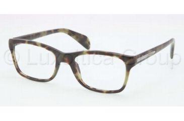 Prada PR19PV Bifocal Prescription Eyeglasses LAB1O1-5318 - Green Havana Frame