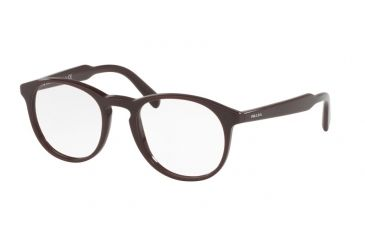 f8d49ccfd5 ... Matte Striped Grey Frame. Prada PR19SV Single Vision Prescription  Eyeglasses USF1O1-48 - Brown Frame
