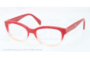 Prada PR20PV Progressive Prescription Eyeglasses PDO1O1-52 - Red Gradient Pink Frame