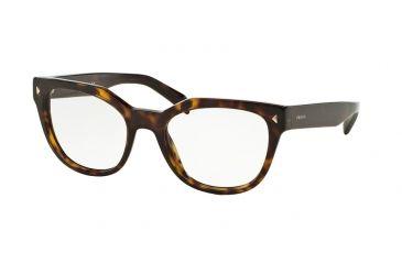 2946cd5aaf Prada PR21SV Eyeglass Frames 2AU1O1-51 - Havana Frame