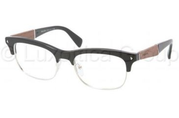 Prada PR22OV Single Vision Prescription Eyeglasses 1AB1O1-5419 - Black Frame