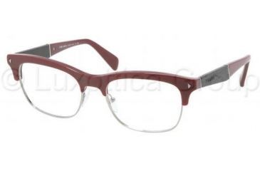 Prada PR22OV Single Vision Prescription Eyeglasses JAC1O1-5219 - Bordeaux Frame