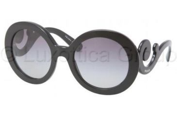 Prada PR27NS Bifocal Prescription Sunglasses PR27NS-1AB3M1-5522 - Frame Color Black, Lens Diameter 55 mm