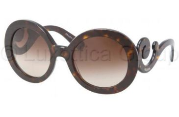 Prada PR27NS Bifocal Prescription Sunglasses PR27NS-2AU6S1-5522 - Frame Color Havana, Lens Diameter 55 mm