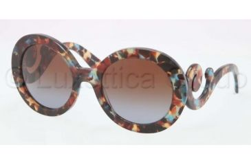 Prada PR27NS Bifocal Prescription Sunglasses PR27NS-NAG0A4-5522 - Lens Diameter 55 mm, Frame Color Havana Spotted Blue
