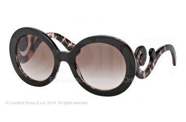 Prada PR27NS Sunglasses ROL0A6-55 - Top Brown/pink Havana Frame, Brown Gradient Lenses