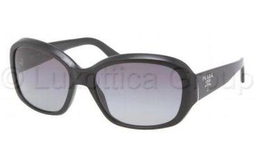 Prada PR31NS Single Vision Prescription Sunglasses PR31NS-1AB3M1-5816 - Lens Diameter 58 mm, Frame Color Gloss Black