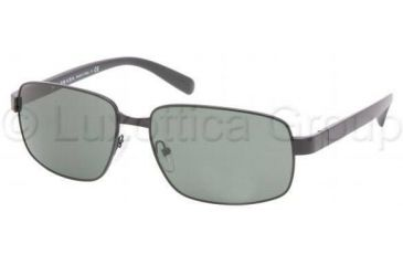 Prada PR52NS Bifocal Prescription Sunglasses PR52NS-1BO3O1-6116 - Lens Diameter 61 mm, Frame Color Demi Matte Black