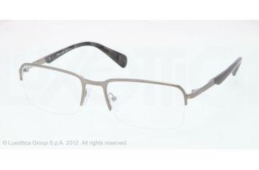 Prada PR59QV Eyeglass Frames 75S1O1-53 - Brushed Gunmetal Frame