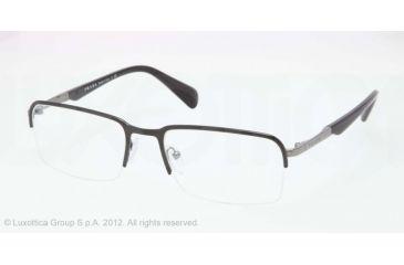 Prada PR59QV Eyeglass Frames FAR1O1-53 - Top Black/gunmetal Frame