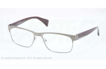 Prada PR61PV Progressive Prescription Eyeglasses 75S1O1-55 - Brushed Gunmetal Frame
