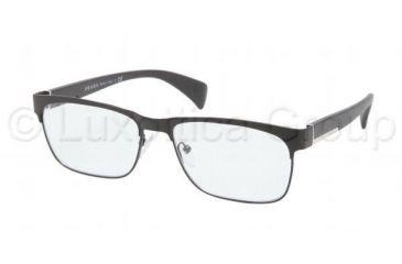Prada PR61PV Progressive Prescription Eyeglasses FAD1O1-5316 - Matte Black Frame, Demo Lens Lenses