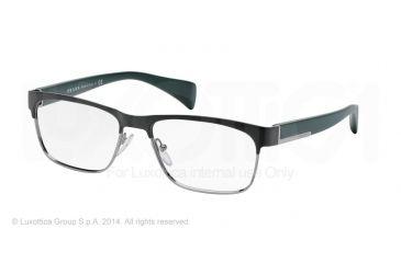 Prada PR61PV Progressive Prescription Eyeglasses LAH1O1-53 - Matte Brown Frame