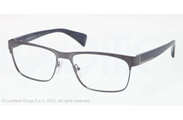 Prada PR61PV Progressive Prescription Eyeglasses QFM1O1-53 - Brushed Blue Frame