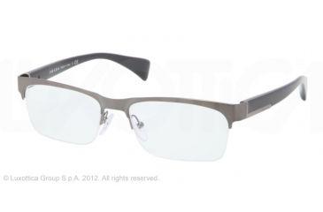 Prada PR67PV Single Vision Prescription Eyeglasses 7S51O1-54 - Brushed Gunmetal Frame, Demo Lens Lenses