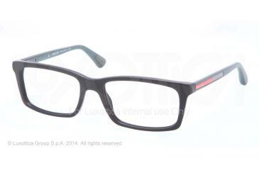 Prada PS02CV Progressive Prescription Eyeglasses SMG1O1-53 - Matte Black Frame