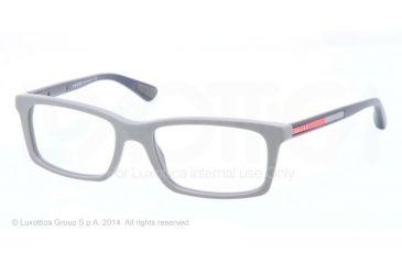 Prada PS02CV Progressive Prescription Eyeglasses SMH1O1-53 - Matte Grey Frame