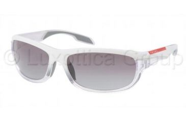 Prada PS02NS Sunglasses GAH3M1-6117 - White Demi Shiny Frame, Gray Gradient Lenses