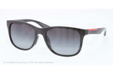 Prada PS03OS Sunglasses 1AB5W1-55 - Black Frame, Polar Grey Gradient Lenses