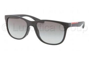 Prada PS03OS Sunglasses 1BO3M1-5518 - Demi Shiny Black Frame, Gray Gradient Lenses