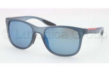 Prada PS03OS Sunglasses JAP9P1-5518 - Avio Demi Shiny Frame, Blue Mirror Lenses