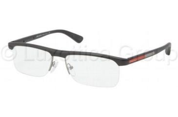 Prada PS04CV Progressive Prescription Eyeglasses 1BO1O1-5316 - Gunmetal Demi Shiny Frame