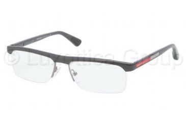 Prada PS04CV Progressive Prescription Eyeglasses JAO1O1-5316 - Dark Gray Demi Shiny Frame, Demo Lens Lenses