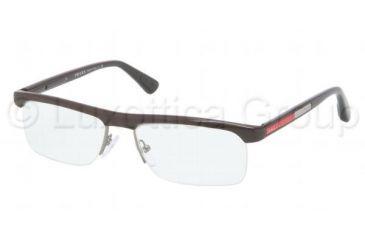 Prada PS04CV Progressive Prescription Eyeglasses NAT1O1-5316 - Brown Frame