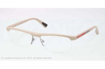 Prada PS04CV Progressive Prescription Eyeglasses OAG1O1-53 - Beige Demi Shiny Frame