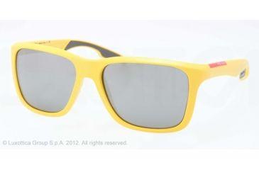 Prada PS04OS Sunglasses DHD7W1-59 - Yellow Demi Shiny Frame, Gray Mirror Silver Lenses