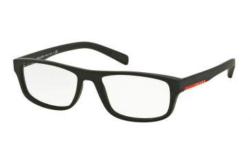 2765b9bde12 Prada PS06GV Eyeglass Frames DG01O1-54 - Black Rubber Frame