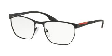 1856700cdd Prada PS50LV Eyeglass Frames 1AB1O1-53 - Black Frame