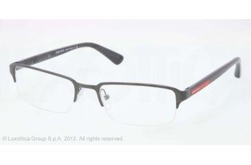 Prada PS51DV Bifocal Prescription Eyeglasses OAV1O1-52 - ASPHALT DEMI SHINY Frame