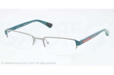 Prada PS51DV Bifocal Prescription Eyeglasses PDD1O1-52 - Gunmetal Demi Shiny Frame