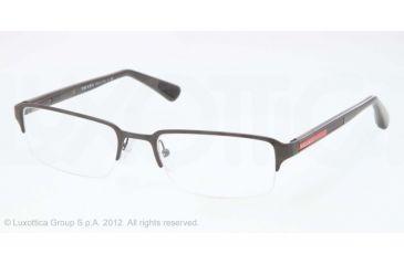 Prada PS51DV Bifocal Prescription Eyeglasses QFH1O1-52 - Brown Demi Shiny Frame