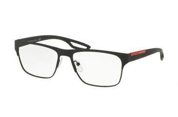 6c2dafe78d3 Prada PS52GV Eyeglass Frames DG01O1-55 - Black Rubber Frame
