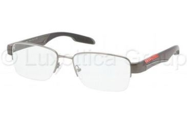 Prada PS55CV Progressive Prescription Eyeglasses 7CQ1O1-5217 - Gunmetal Demi Shiny Frame