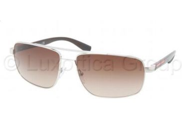 Prada PS55NS Sunglasses 1BC6S1-6016 - Silver Frame, Brown Gradeint Lenses