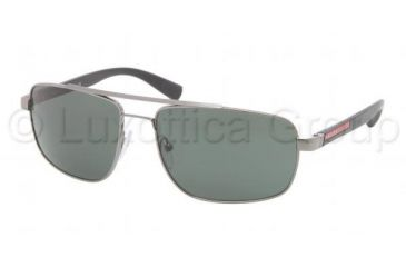 Prada PS55NS Sunglasses 5AV3O1-6016 - Gunmetal Frame, Green Lenses