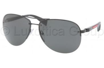 6ae99b51515 Prada PS56MS Sunglasses 1BO1A1-6214 - Black Demi Shiny Gray