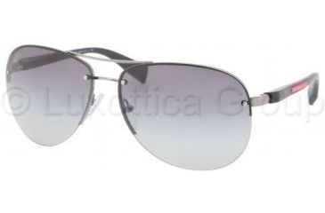 Prada PS56MS Sunglasses 5AV3M1-6214 - Gunmetal Gray Gradient