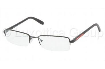 Prada PS57BV Eyeglass Frames 1BO1O1-5118 - Demi Shiny Black Frame, 51mm Lens Diameter