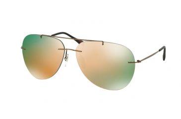 963c95fc8ca8 Prada RED FEATHER PS50PS Sunglasses ROU2D2-60 - Cocoa Demi Shiny Frame