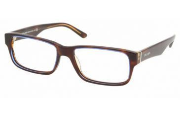 Prada PR16MV Progressive Eyeglasses - Tortoise Denim Frame / 53 mm Prescription Lenses, ZXH1O1-5316