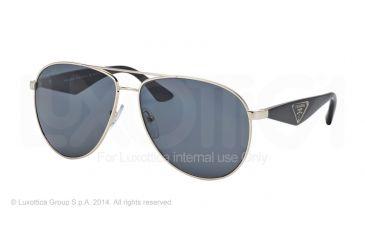 Prada TRIANGLE PR53QS Sunglasses ZVN5Z1-60 - Pale Gold Frame, Polar Grey Lenses